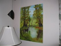 """18X24"""" Stag at pond,  original oil on canvas. in Tacoma, Washington"""