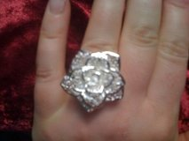 REDUCED!Sterling silver 925 Rose Filigree ring in Leesville, Louisiana