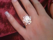 REDUCED!!!Sterling silver 925 carnation ring size 8 in Leesville, Louisiana