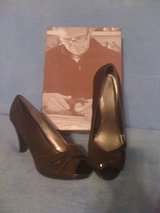REDUCED!New,sz 8,rich brown chocolate peep toe sexy shoes in Leesville, Louisiana